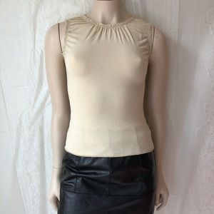 Stretchy nude Anthropologie top